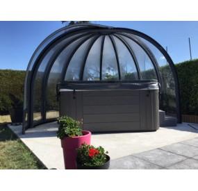 Abri rotonde en 4,00m de diamètre - vitrage clair