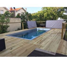 création de la terrasse bois autour du SWIM SPA 5.5