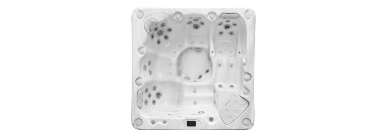 Spa intérieur 4 places, spa extérieur 4 personnes, spa 5 places dont 2 allongées - Aquatech Spa