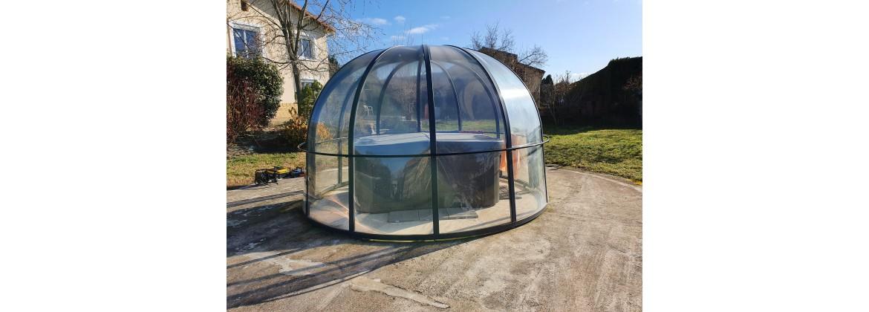 Abri de spa rond - Sphère - Aquatech Spa