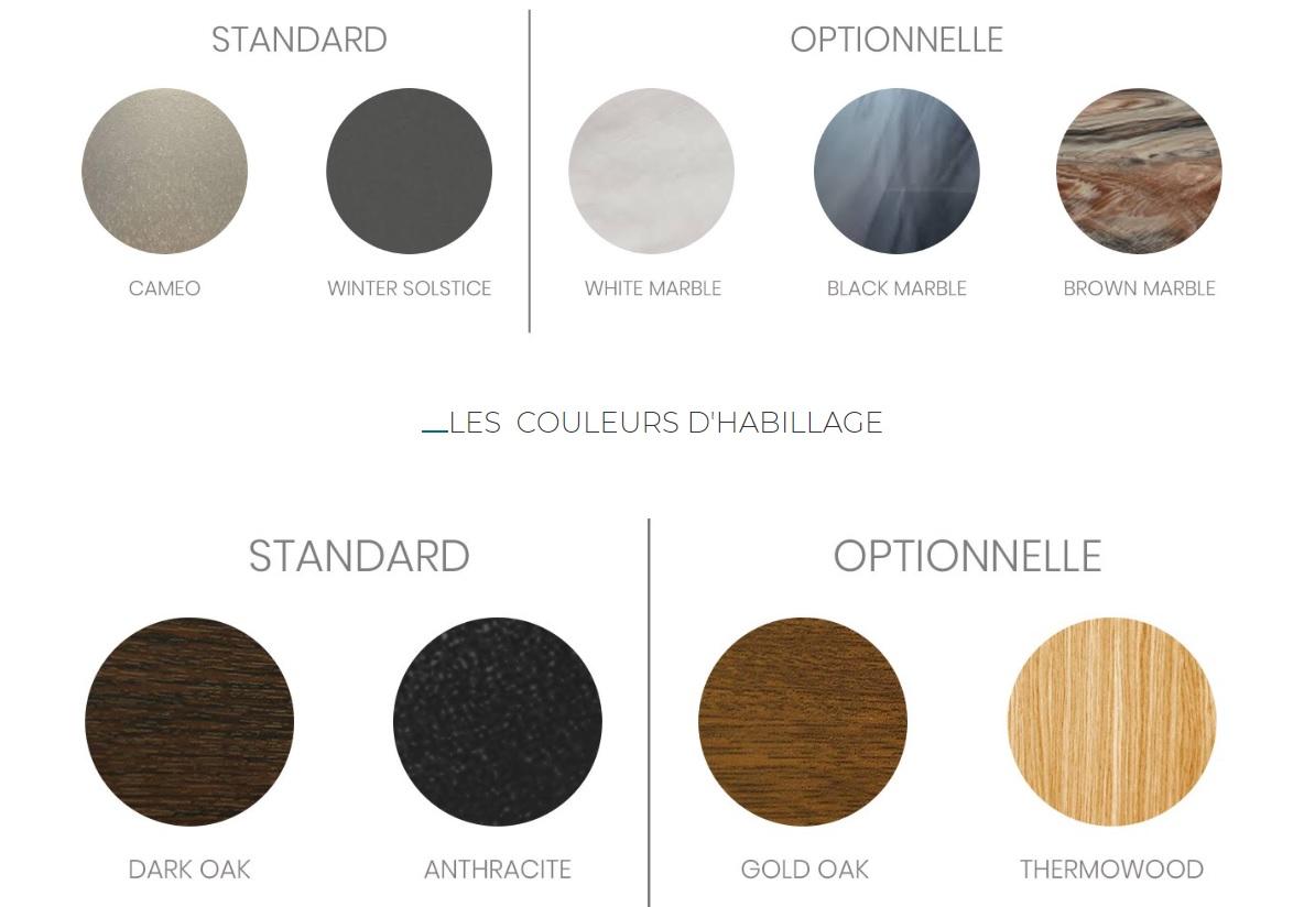 Choix de couleurs Cuve et Tablier